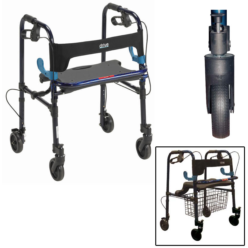 Clever Lite Walker With Seat And Loop Locks Walkers And