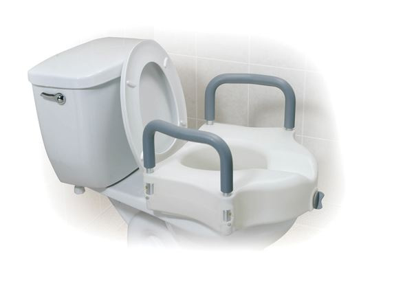 Toilet Seat Raised W Arms And E Z Lock Commodes And